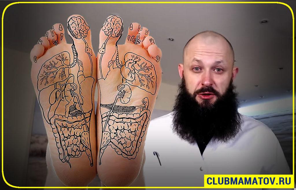 Алексей Маматов массаж стоп ног
